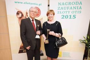 Prof. Włodzimierz Jarmundowicz – laureat Honorowej Nagrody Zaufania Złoty OTIS 2015