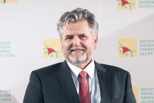 Prof. Krzysztof Bankiewicz - Międzynarodowa Nagroda Zaufania Złoty OTIS 2017