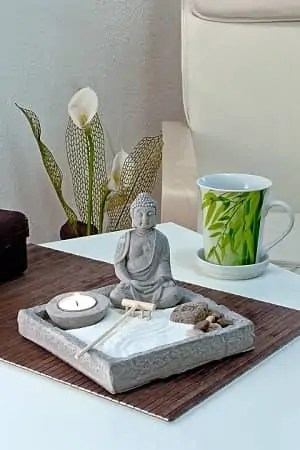 Buddha na mizici feng shui prostora