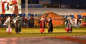 Культурная программа на открытии Зимних сельских спортивных игр в Мухоршибири