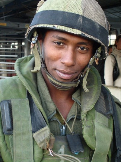 Soldier around Nablus