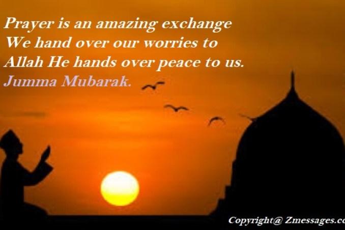 Jumma Mubarak Wishes SMS in English