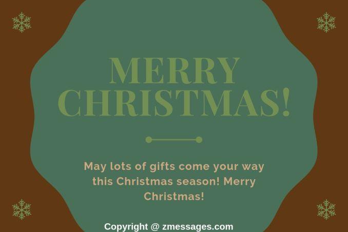 Christmas greetings card message