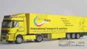 Papercraft imprimible y armable de un camión Mercedes-Benz Axor. Manualidades a Raudales.