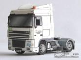 Papercraft imprimible y armable del camión DAF XF 95 Space Cab. Manualidades a Raudales.