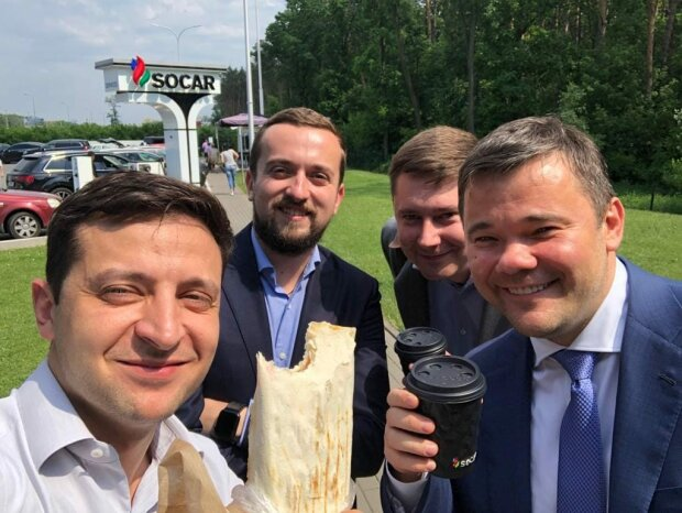 Vladimir Zelensky, Andrey Bogdan - photo from V. Zelensky's Facebook