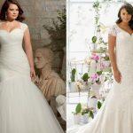 Великолепные свадебные платья для девушек с пышными формами