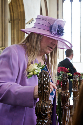 Liliowy kapelusz