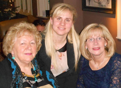 Kelly with her mum and nan
