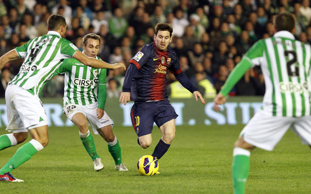 Lionel Messi breaks Muller's record in Barcelona's 2-1 win over Betis