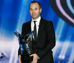Andres Iniesta named European Player of the Year