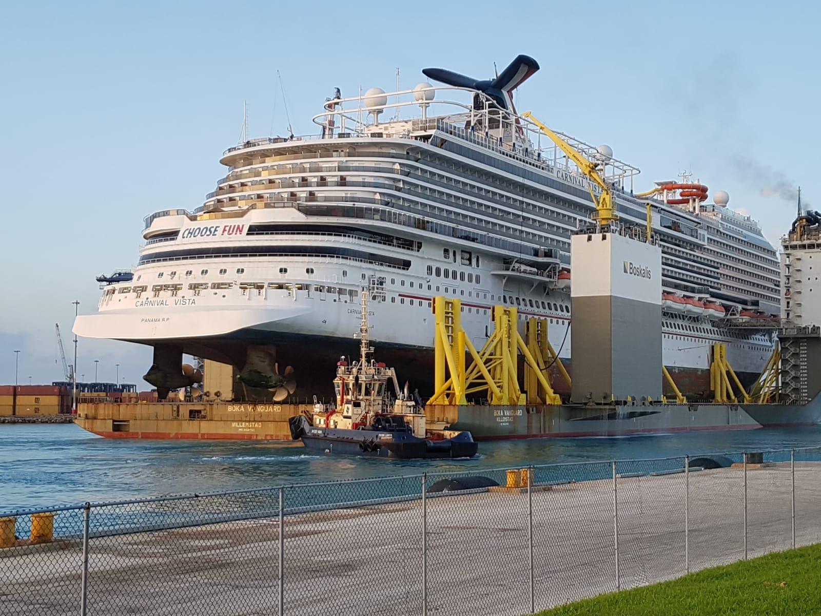 Boka Vanguard Delivers Cruise Ship For Repairs At Gb Ship