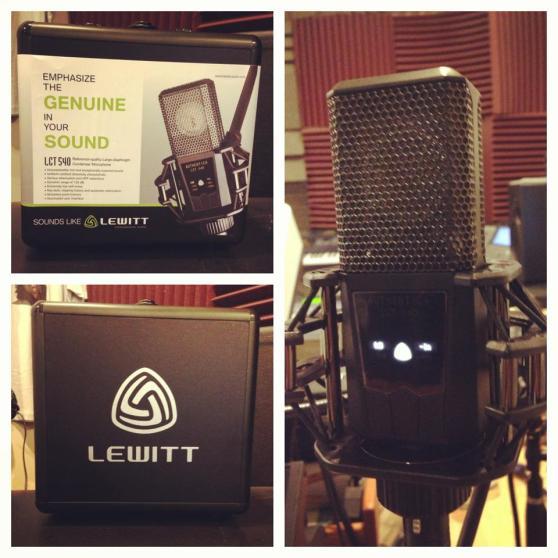 Lewitt Audio LCT 540 condenser microphone looking nice in East Wing Studios