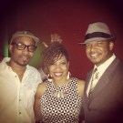 Anthony David, Carmen Rodgers and I after our show in Atlanta (Aug. 2013)