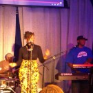 Me and Carmen in Houston, Gary Mayes on drums (Sept. 2013)