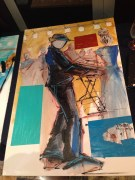 "Live painting of me by Demont ""Peekaso"" Pinder on the Capital Jazz Cruise (Nov. 2013)"