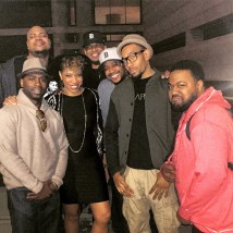 Kamau, D-Love, Carmen, me, Kris Crosby, Saxappeal and Marcus Douglas in Detroit