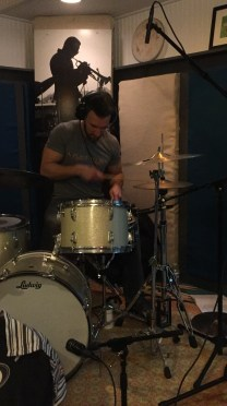 "Nick Baglio recording drums on ""For Pops"" in Raleigh, NC • 02.18.16"