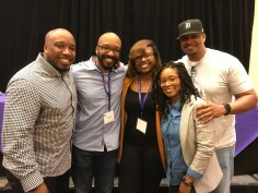With the Digifé crew: Eric Seals, Donnie Seals, Brittany Applegate & Cassandra Papillon-Page
