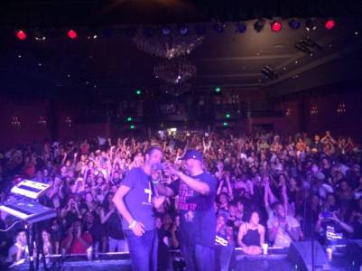 Me and Nicolay setting up to take a crowd pic in LA | Photo by Nick Baglio