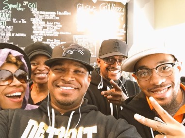 With the crew at GoSmoothies in Detroit