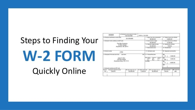 HOW TO FIND W2 ONLINE 1