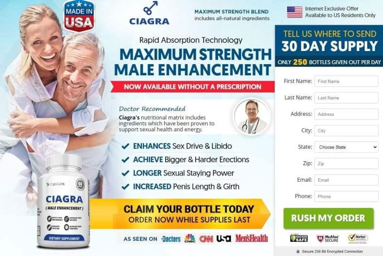 Ciagra Reviews 2020 – Does Ciagra Male Pills Really Work? 2