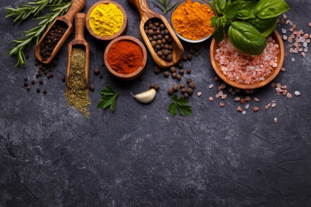 7 meal preparation spices