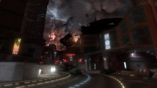 Screenshot HALO 3 ODST: New Mombasa bei Nacht