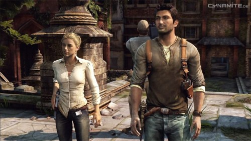 Uncharted 2 - Nathan mit Elena (Quelle: www.cynamite.de/index.html)