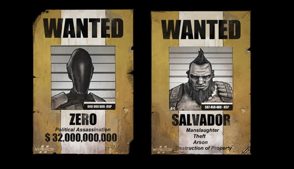 Wanted: Zer0 & Salvador
