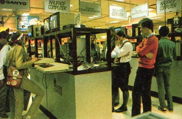 Bild 1: In der Computerabteilung vom Kaufhof.