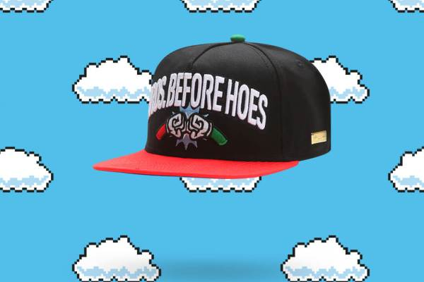 """Hands of Gold Super Mario Snapback """"Bros before Hoes"""""""