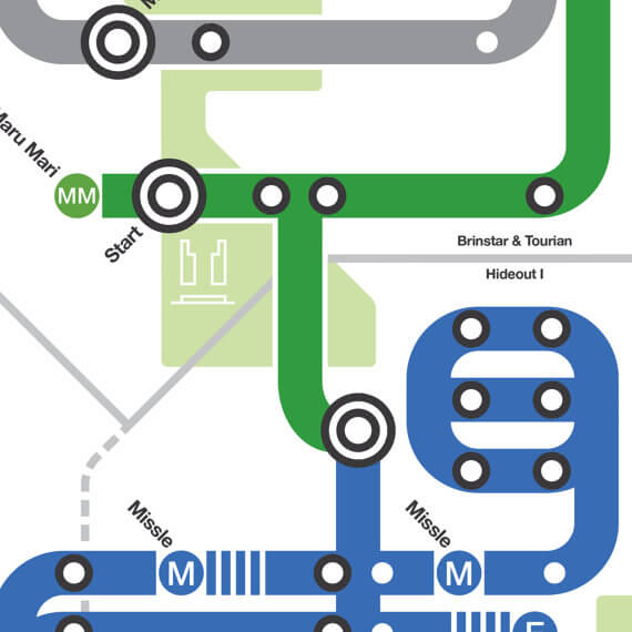 NES Subway Map: Metroid