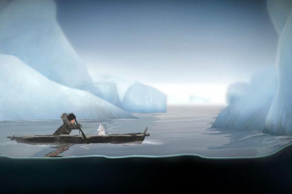 Screenshot aus Never Alone: Foxtales - Nuna und Polarfuchs