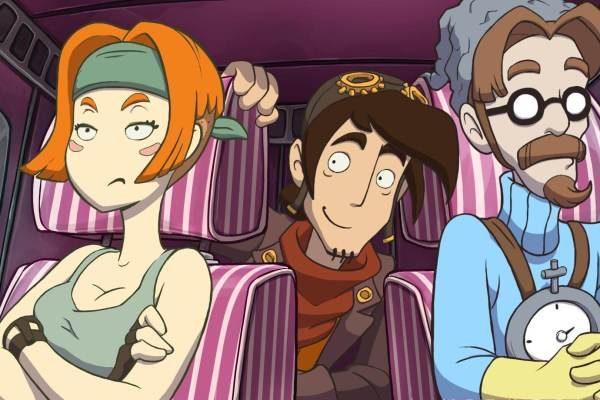 Screenshot: Deponia Doomsday Future Goal, Rufus & McCrhonicle