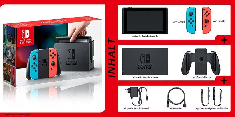 Nintendo Switch: Lieferumfang
