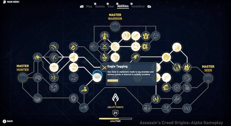 Assassin's Creed Origins - Bayek Skilltree