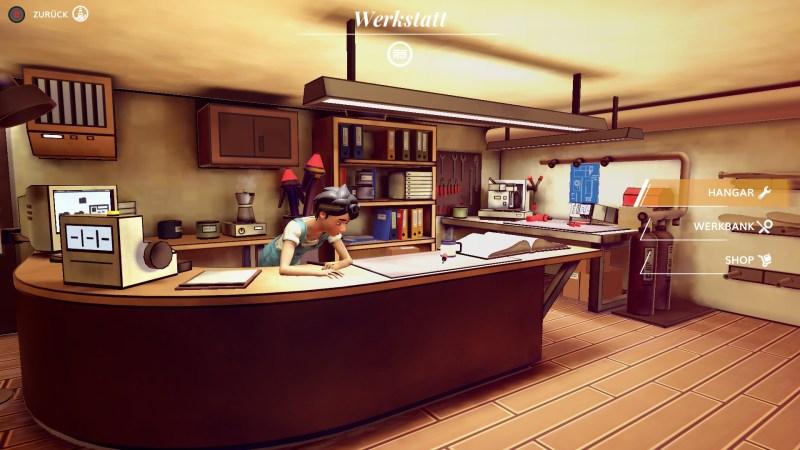 Airheart - Werkstatt (Screenshot)