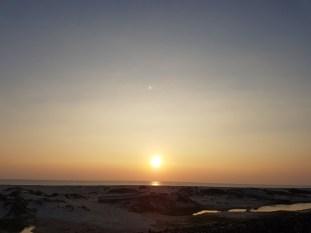 The setting sun on the Dhanushkodi