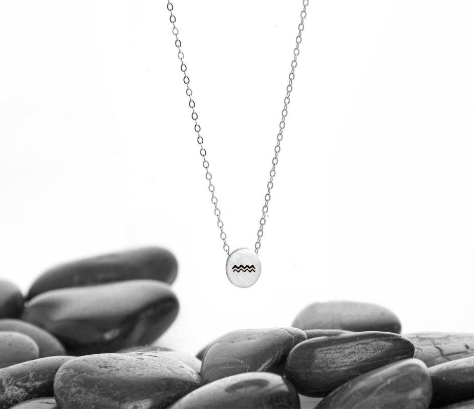 Aquarius Necklace Silver