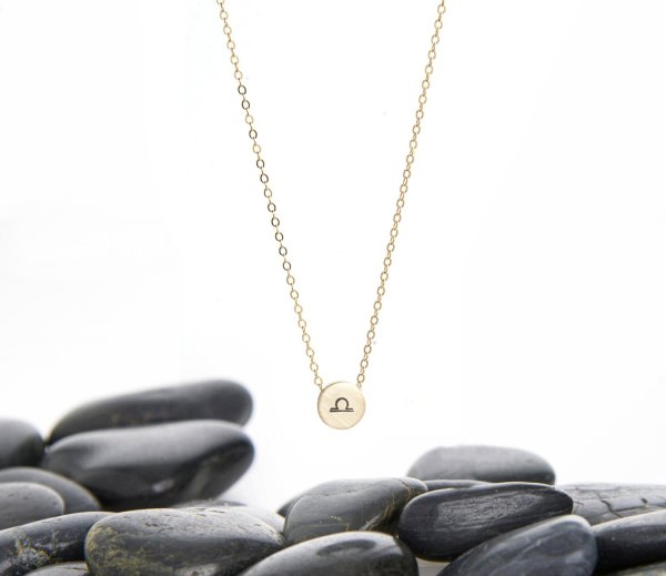 Libra Zodiac slider necklace