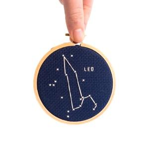 leo cross stitch kit