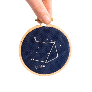 libra cross stitch kit