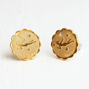 Virgo Gold Stud Earrings