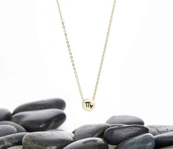 Virgo Zodiac Charm Necklace