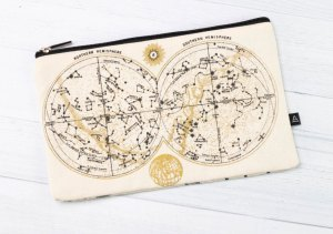 Astronomy Canvas Zipper Case Back
