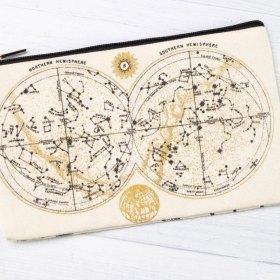 Astronomy Canvas Zipper Case Back