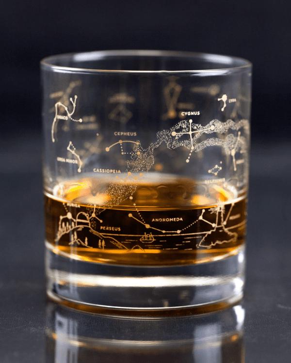 Star Chart Lowball Glass