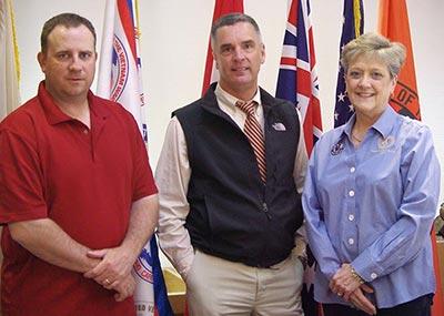 Brian Zabroski, Chuck Allabaugh and Nancy Verespy